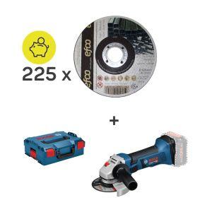 225x EFCO ATS 125x1.0x22.2 + 1x BOSCH GWS 18-125 V Li